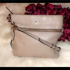 KATE SPADE Taupe Leather Crossbody Bag